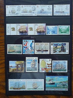 Ship Themed Selection of 20 Stamps from Various Countries Fine MNH