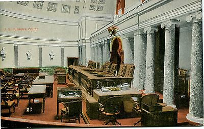 Old Post Card Of The Supreme Court Chamber In  Washington Dc