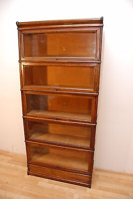 Antique Oak Marcey Stacking Barrister Five Section Bookcase