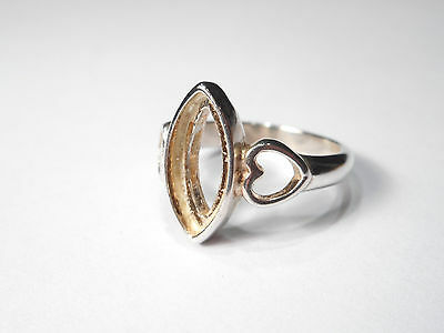 Vintage Sterling Silver Ring  ,, (Missing Stone)