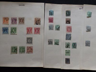 India States Chambra,cochin, Gwalior, Jhind + Mint & Used Stamps On Album Pages