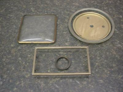 Vintage Clockmaker lot of Brass Bezel Doors, Dial Pans, and Covers    E552d