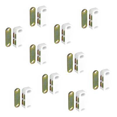 SMALL MAGNETIC DOOR CATCH 40mm Heavy Magnet Cupboard Cabinet WHITE 2-10 PACK