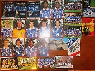 Collection Cartes Postales Football Equipe France Zidane 1998