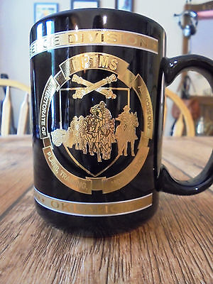 US Army Gold Embossed Security & Intelligence DPTMS Fort Sill Oklahoma Mug Cup