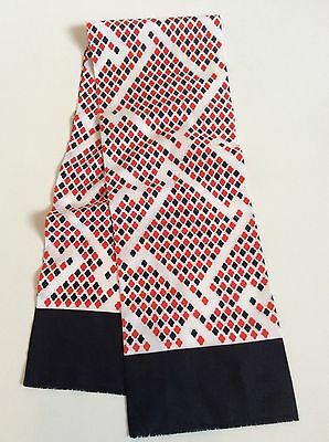 Mens VINTAGE SCARF Geometric Patterned Hipster Retro 70's SILK Style