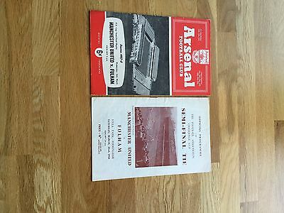Manchester United V Fulham + Replay 1958 Fa Cup