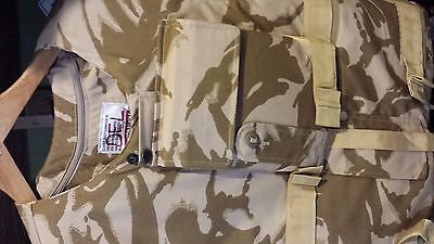 British Army Body Armour With Desert Camo Cover 190/108