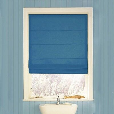 Swish 150cm Plain Navy High Qaulity Pleated Look Roman Blind - New