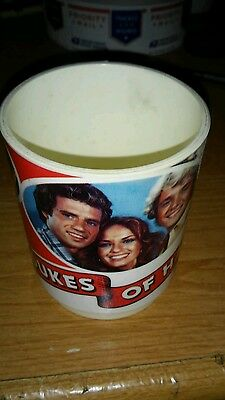 Dukes of Hazzard  Plastic MUG w/HANDLE by DEKA 1981