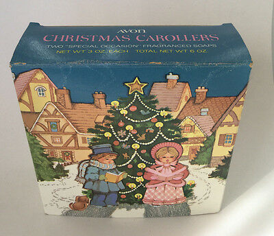 Vintage AVON 1978 CHRISTMAS CAROLLERS SOAP 2 Special Occasion Fragranced