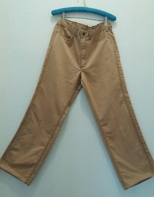 """Vintage 1970s Mens Disco jeans RED SNAP BELL BOTTOM JEANS  32""""x31"""""""