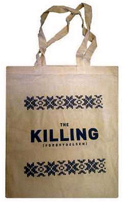 Brand new The Killing tote bag inspired Nordic Noir TV show with Sofie Gråbøl