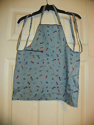Little Boys Grilling, Cooking Apron Cars Print