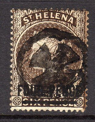 St. Helena QV (Wmk CA) 4d Pale Brown SG43 Used