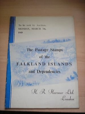 H R Harmer Auction Catalogue Postage Stamps of Falkland Islands & Dependencies