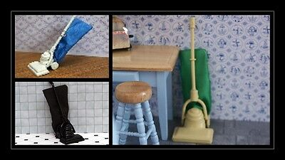 1:12 scale dolls house miniature vintage hoovers 3 to choose from.