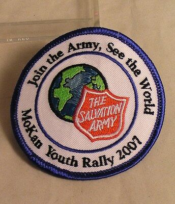 Salvation Army  CLOTH PATCH - MO - KAN YOUTH RALLY 2007