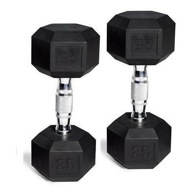 CAP Barbell Rubber-Coated Hex Dumbbells, Set of 2 | 20 Lb Pair 40 Lbs Total
