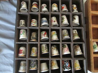 Assorted Thimbles And Cases