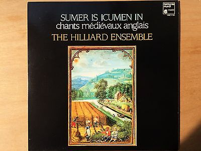 "Hilliard Ensemble ""Sumer Is Icumen In"" LP, Harmonia Mundi HMC 1154, NEAR MINT NM"