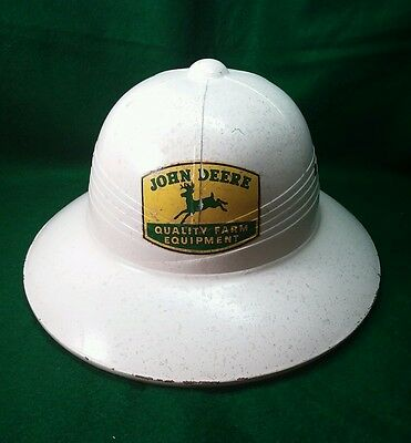 Vintage Adjustable Pith Helmet With John Deere Logo