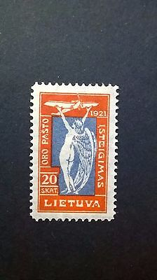 1921 Lithuanian Airmail stamp .
