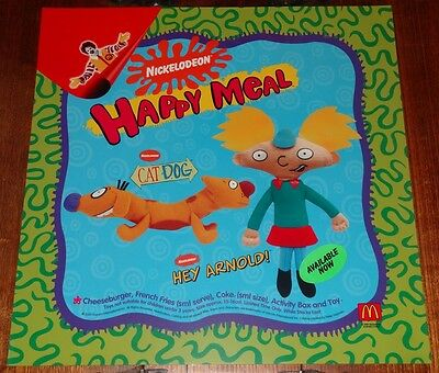 Mcdonalds In Store Promotional Translite Happy Meal Sign Nickelodeon Catdog