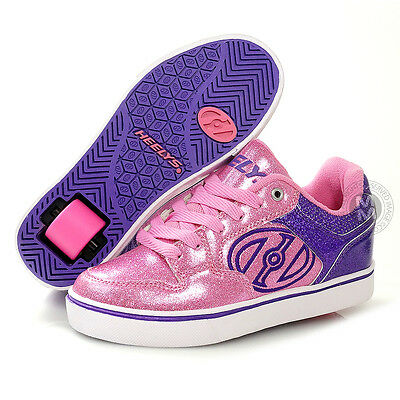Heelys Motion Plus Purple/Pink/Glitter Roller Shoes - UK Size 2 NEW!