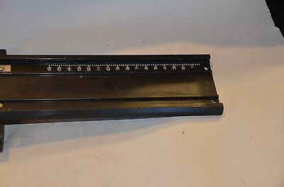 Omega D5 and D6 dovetail track for lens stage