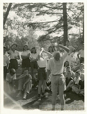 1943 Boys Camp Quinnebarge New Hampshire Milk Guzzling Contest