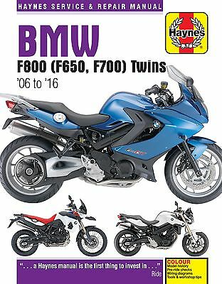 BMW F800 F800GS F800ST F650 F700GS 2006-2016 Haynes Manual 4872