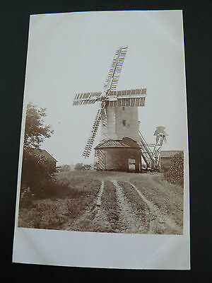 Real Photo RP Postcard showing a Windmill - Sutton Post Mill - Suffolk