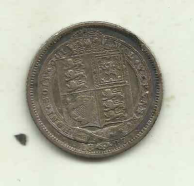 Great Britain, 6 pence, 1887JH (KM 759), 92.5% silver