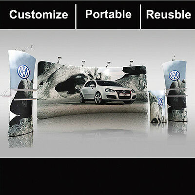 20ft curved portable trade show display exhibit banner Advertising equipment