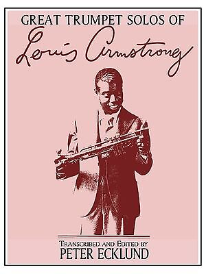 Louis Armstrong Transcribed Solos by Peter Ecklund ~ Dist. by Colin Publications