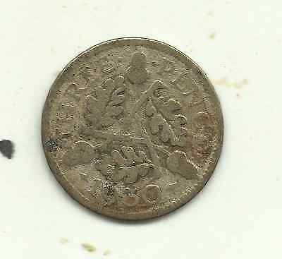 Great Britain, 3 pence, 1930 (KM 831), 50% silver