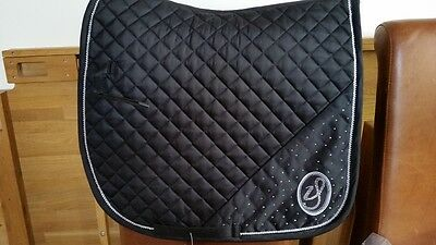 New! Imperial Riding Snowfall Black Full Size Dressage Saddle Cloth