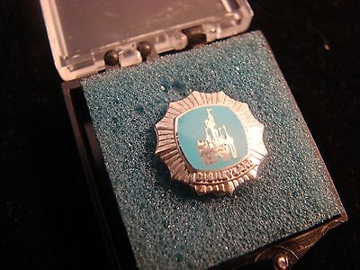1956 Disneyland Vintage Pin (1 Year of Service) Sterling Silver Castle
