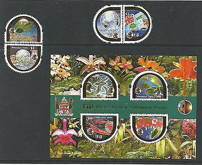Fidschi 2000 Fiji - Where the New Millennium Begins complette set Satz Rar MNH