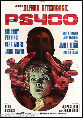Psyco Manifesto Cinema Thriller Alfred Hitchcock Anthony Perkins Movie Poster 4F