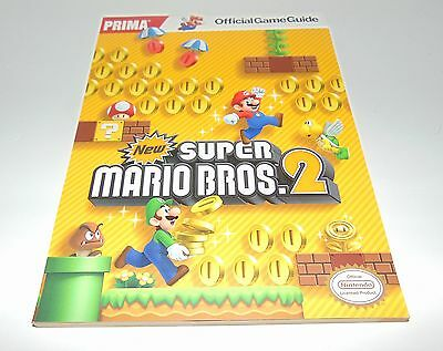 New Super Mario Bros 2 Official Prima Strategy Guide Book + Poster Nintendo 3DS