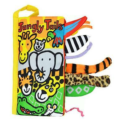 Animal Tails Cloth Book Baby Toy Cloth Development Jungle Tail Books New