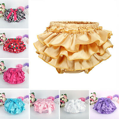 Newborn Baby Girls Ruffle Soft Bloomers Nappy Diaper Cover Panties Underwear New