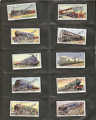 British Automatic co. - Famous Trains of the World 2nd Series (1952) Set of 24