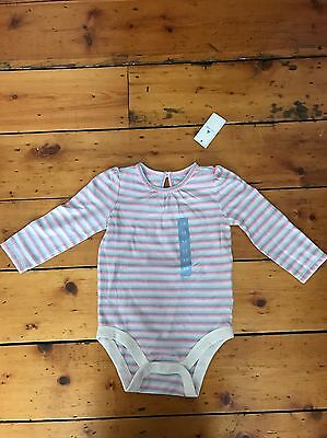 Baby GAP Girl Pretty Stripped Long Sleeve Vest 6-12 Months New With Tags