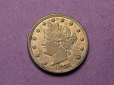 "Usa Liberty Head 1883 No Cents  "" Racketeer "" V Nickel /  Five Cent Coin"