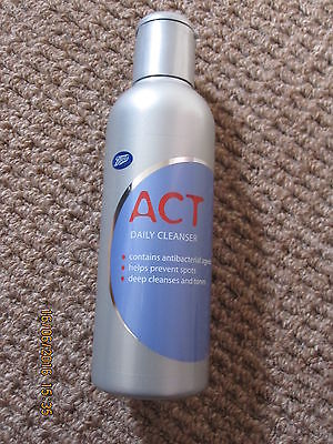 Brand New - Boots 'act' Daily Cleanser 200Ml