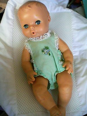 Vintage doll baby- marked at the back of the neck--rubber