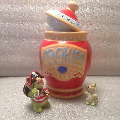 Whimsical World Of Pocket Dragons Cookie Jar with Cookie Pirate &I'm Too Little.